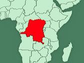 Map of worlds. Democratic Republic of Congo. — Stock Photo