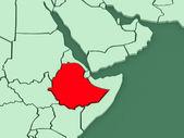 Map of worlds. Ethiopia. — Stock Photo
