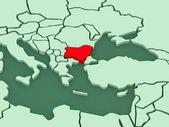 Map of worlds. Bulgaria. — Zdjęcie stockowe