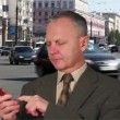 Stock Video: Businessman talking on the phone