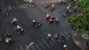 Saigon. Vietnam. Traffic. — Stock Video
