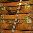 Foto Stock: Old Suitcases