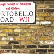 Royalty-Free Stock Photo: Portobello Road Sign in Notting Hill