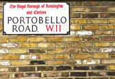 Portobello Road Sign in Notting Hill — Stock Photo