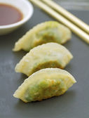 Prawn and Spinach Dim Sum — Stock Photo