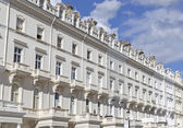 Georgian Stucco front houses in London — Stock Photo