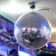 Shiny disco ball on nightclub — стоковое видео #12483195