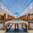 Interior of modern shopping center - Zdjęcie stockowe