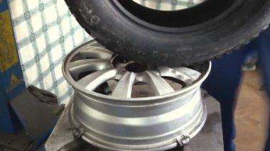 Balancing car wheel — Stock Video