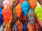 Tibet color chandelier — Stock Photo