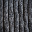 Stock Photo: Knitted Black Wool Pattern for background close up
