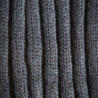 Knitted Black Wool Pattern for background close up — Stock Photo