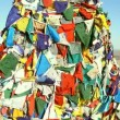 Tibetan prayer flags blowing in the wind — Stock Video