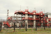 Oil refining factory — Stockfoto