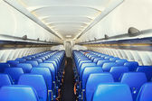 Modern interior of the airliner — Stock Photo