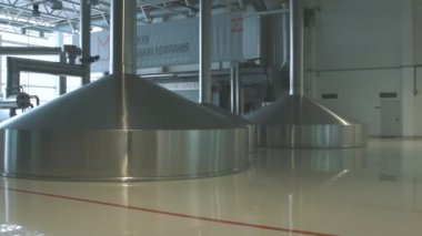 Brewing production - mash vats — Stock Video