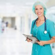 Medical doctor woman in the office — Stock Photo #12716275