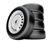 3d tires isolated on white background with no shadow — Stock Photo