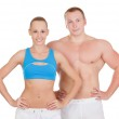 Sports woman and man — Stock Photo #13202974
