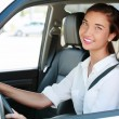 Pretty girl in a car — Stock Photo #28874473
