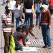 straatmarkt in port vell op 16 april 2013 barcelona — Stockfoto