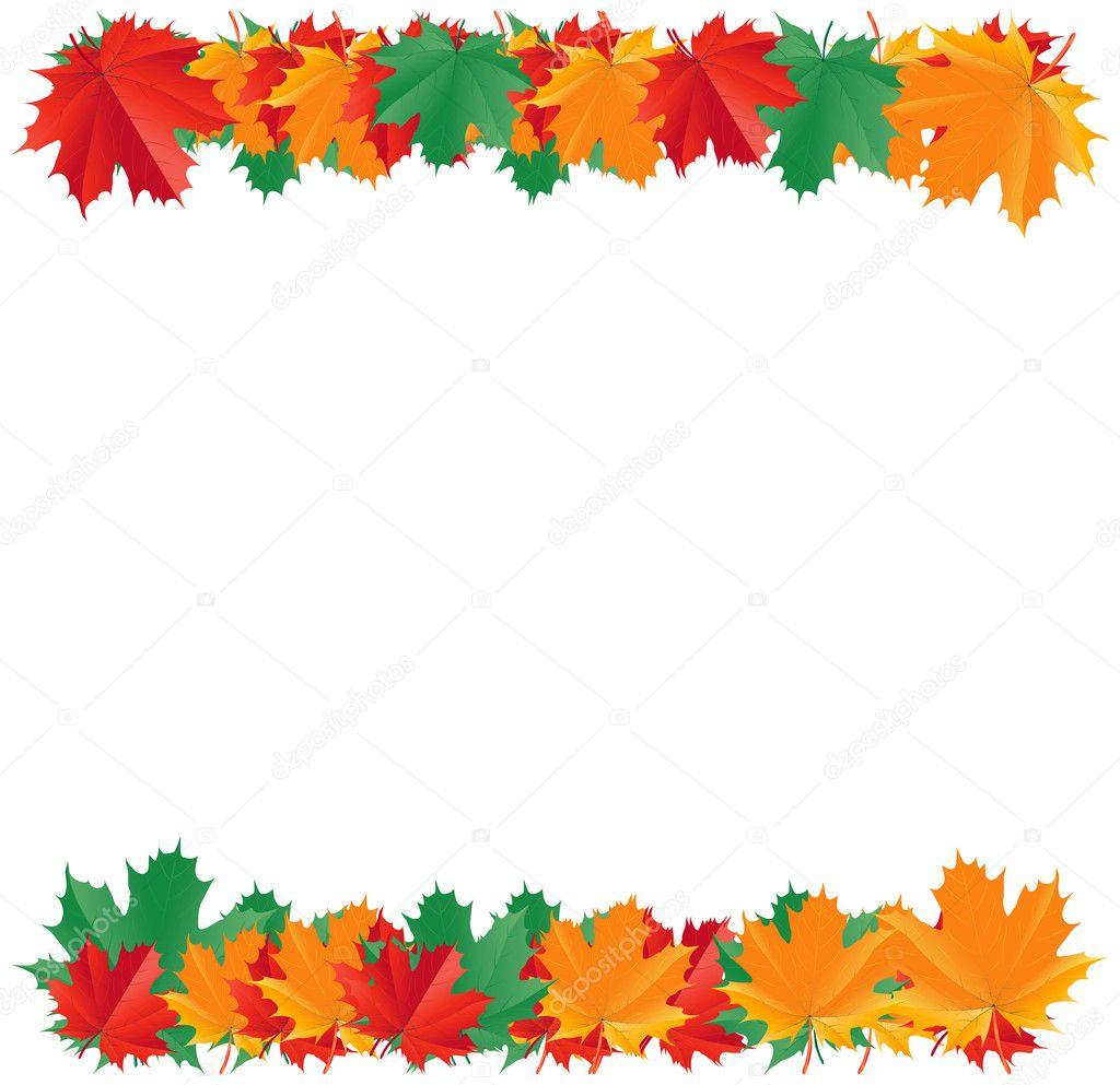 Fall Border Images Fall leaf border - stock