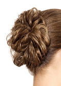 Woman with braid hairdo — Stock Photo