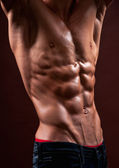 Torso with six pack — Stock Photo