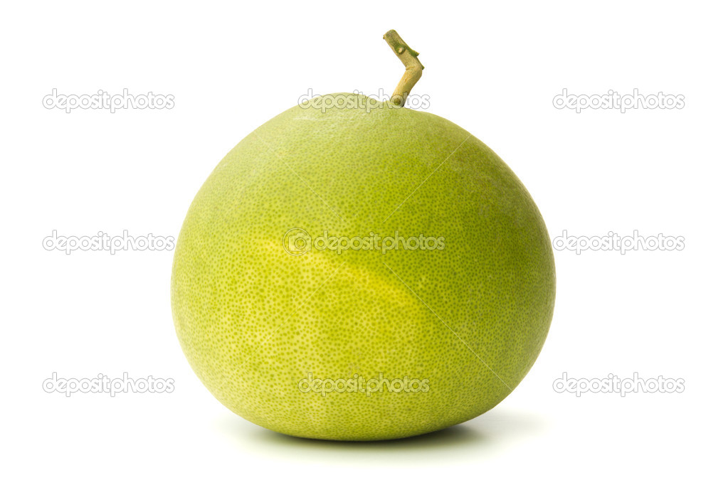 Closeup of pomelo isolated on white background — Stock Photo #12706113