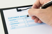 Customer evaluation form — Stock Photo