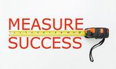 мера успеха — Стоковое фото