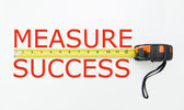 Measure success — 图库照片