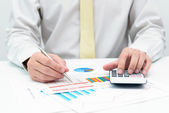 Business calculation — Stock Photo