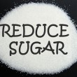 Reduce sugar — Stock Photo