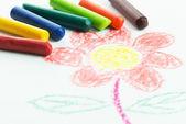 Kid drawing — Stock Photo