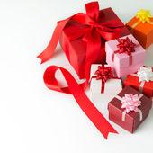 Multi colour gift boxes — Foto Stock