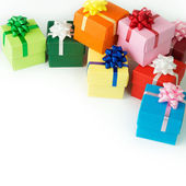Multi color gift boxes — 图库照片