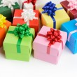 Multi color gift boxes — Stock Photo