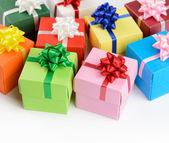Multi color gift boxes — Foto Stock