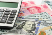 US China currency — Stock Photo