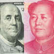 Stock Photo: US dollar versus China Yuan