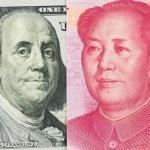 US dollar versus China Yuan — Stock Photo