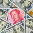 Stock Photo: US dollar against China Yuan