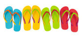 Flip flop sets — Stock Photo