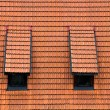 Tiled garret roof. - Stock Photo
