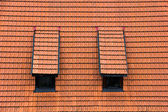 Tiled garret roof. — Stock Photo