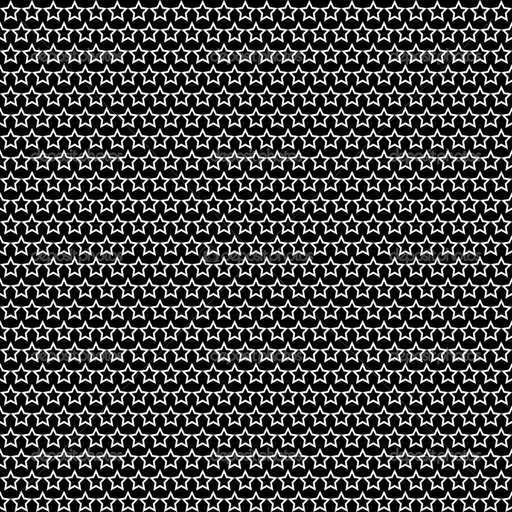 Seamless stars texture. Vector art. — Stock Vector #12524470