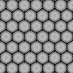 Seamless hexagons decorative texture. — Stock Vector