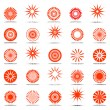 Sun icons. Design elements set. — Stock Vector #13330615