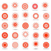 Sun icons. Design elements set. — Stock Vector